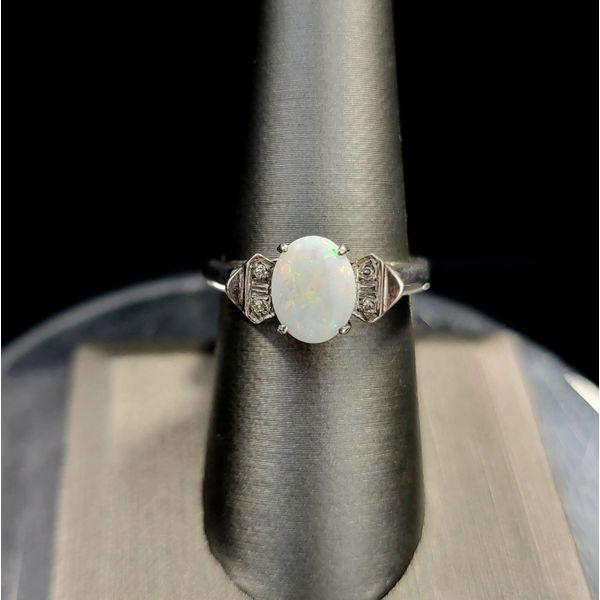 White Opal with Diamonds Vulcan's Forge LLC Kansas City, MO