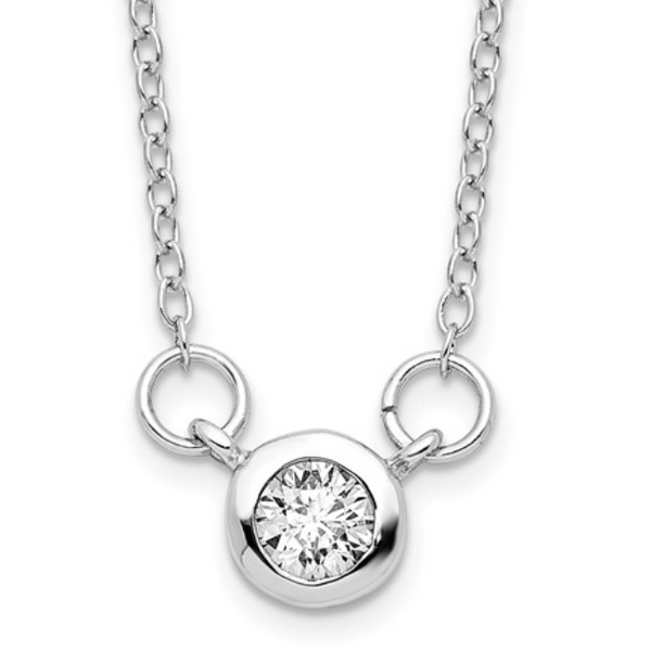 Cubic Zirconia Bezel Necklace Waddington Jewelers Bowling Green, OH