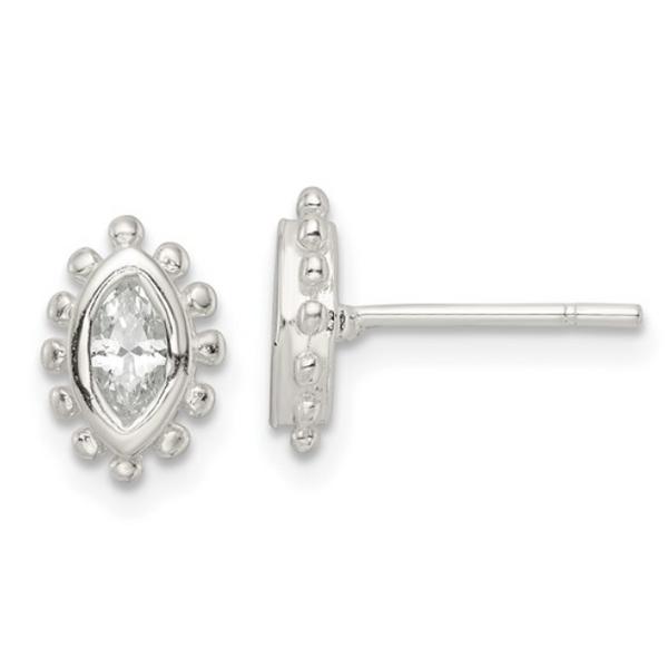 Cubic Zirconia Marquise Earrings Waddington Jewelers Bowling Green, OH