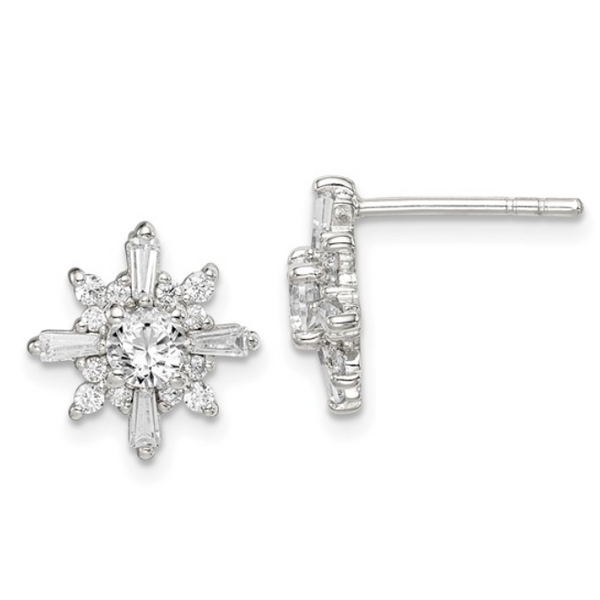 Cubic Zirconia Snowflake Earrings Waddington Jewelers Bowling Green, OH