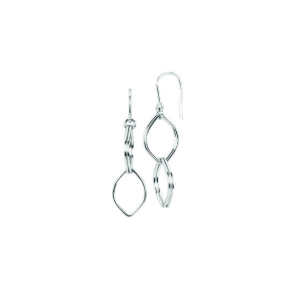Sterling Silver Earrings With Polished Marquise Drops Waddington Jewelers Bowling Green, OH