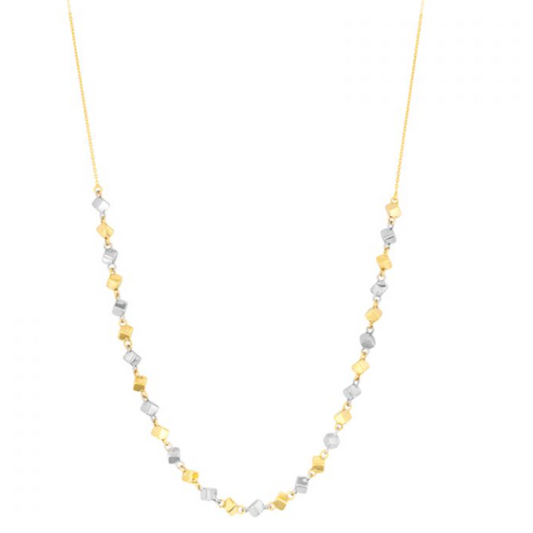 14K Two-Tone Cube Necklace Waddington Jewelers Bowling Green, OH
