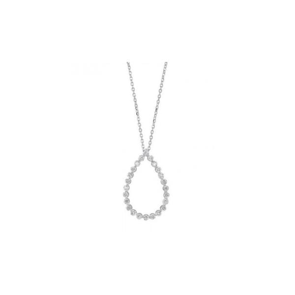 14K White Gold & Diamond Open Pear Pendant Waddington Jewelers Bowling Green, OH