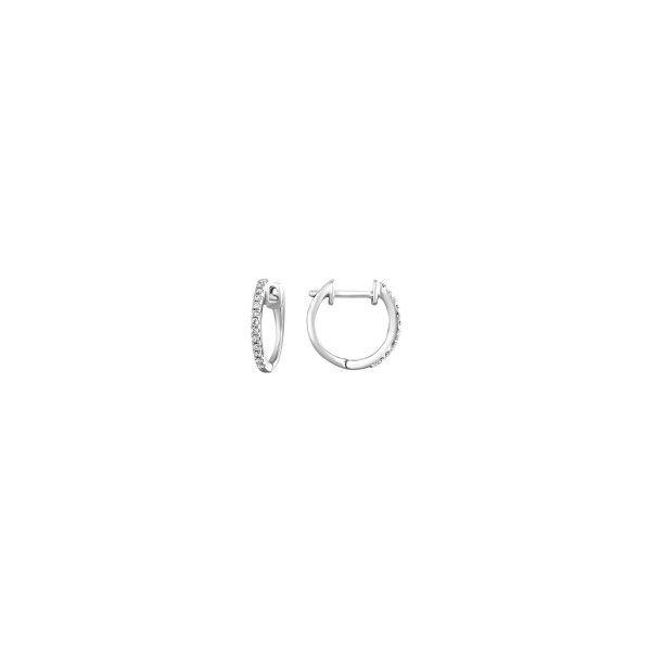 10KW 1/10ct Diamond Hoop Earrings Waddington Jewelers Bowling Green, OH