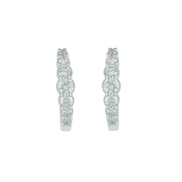 10KW Graduated Diamond Hoop Earrings Waddington Jewelers Bowling Green, OH