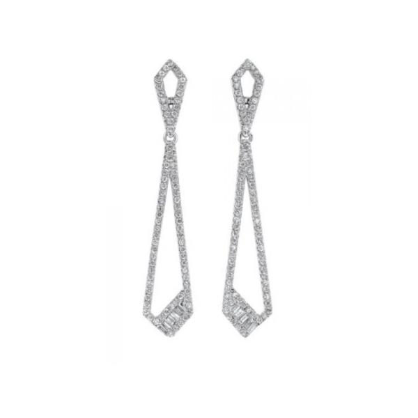 14K White Gold Diamond Dangles Waddington Jewelers Bowling Green, OH