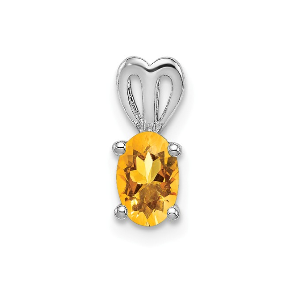 Sterling Silver Citrine Pendant Waddington Jewelers Bowling Green, OH