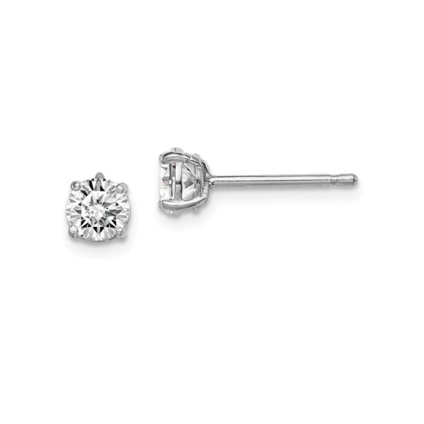 Sterling Silver CZ Stud Earrings Waddington Jewelers Bowling Green, OH