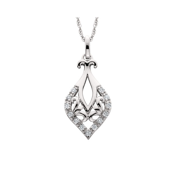 10K .13ctw Diamond Filigree Pendant Waddington Jewelers Bowling Green, OH