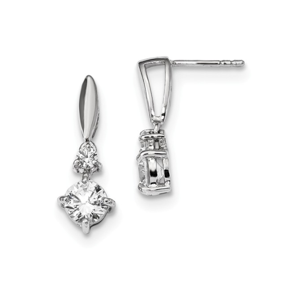 Sterling Silver CZ Earrings Waddington Jewelers Bowling Green, OH