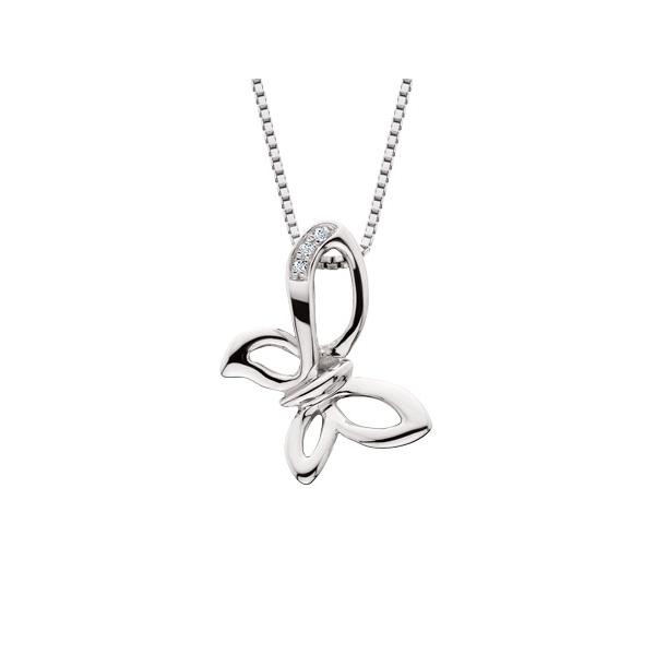 Sterling Silver Diamond Butterfly Pendant Waddington Jewelers Bowling Green, OH
