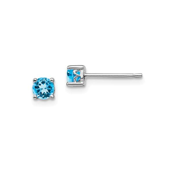 Sterling Silver Blue Topaz Earrings Waddington Jewelers Bowling Green, OH