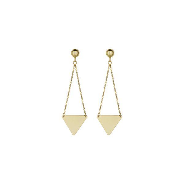 Triangle Drop Earrings Wesche Jewelers Melbourne, FL
