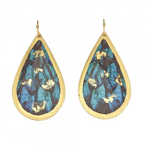 """""""Turquoise Butterfly"""" Drop Earrings Wesche Jewelers Melbourne, FL"""