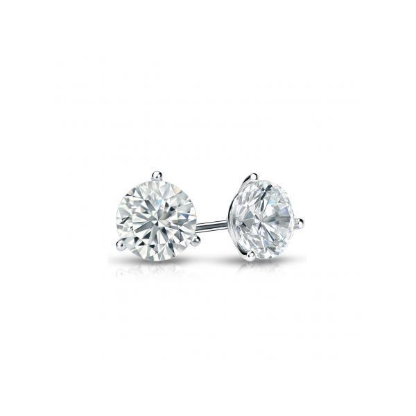 Diamond 3-Prong Stud Earrings Wesche Jewelers Melbourne, FL