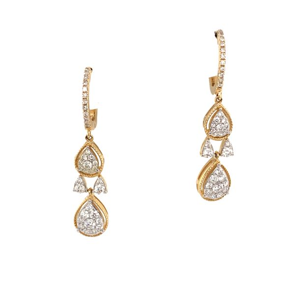 2-Tier Pear Earrings by Madison L Wesche Jewelers Melbourne, FL