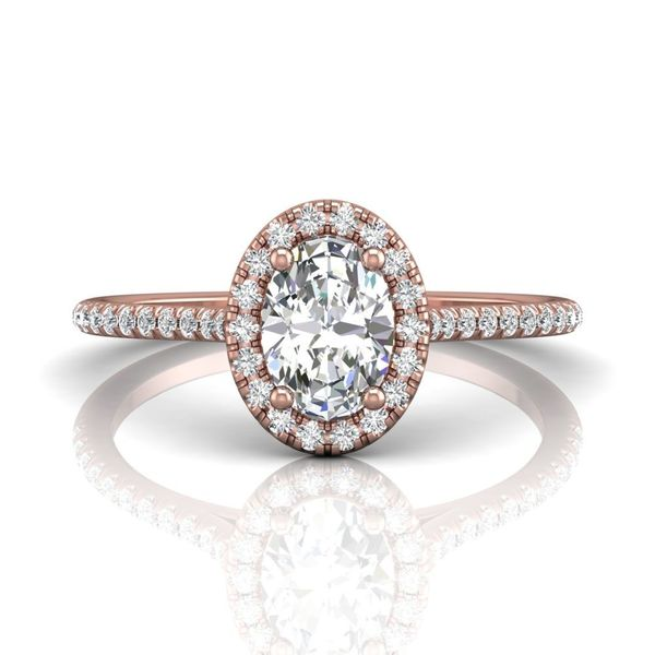 Diamond Oval Engagement Ring with Halo Wesche Jewelers Melbourne, FL