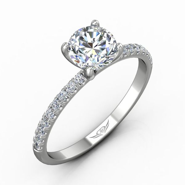 Diamond Micropave Semi-mount Engagement Ring Wesche Jewelers Melbourne, FL