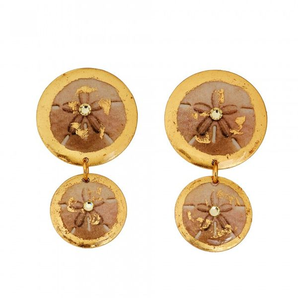 """Sand Dollar"" Double Drop Earrings Wesche Jewelers Melbourne, FL"